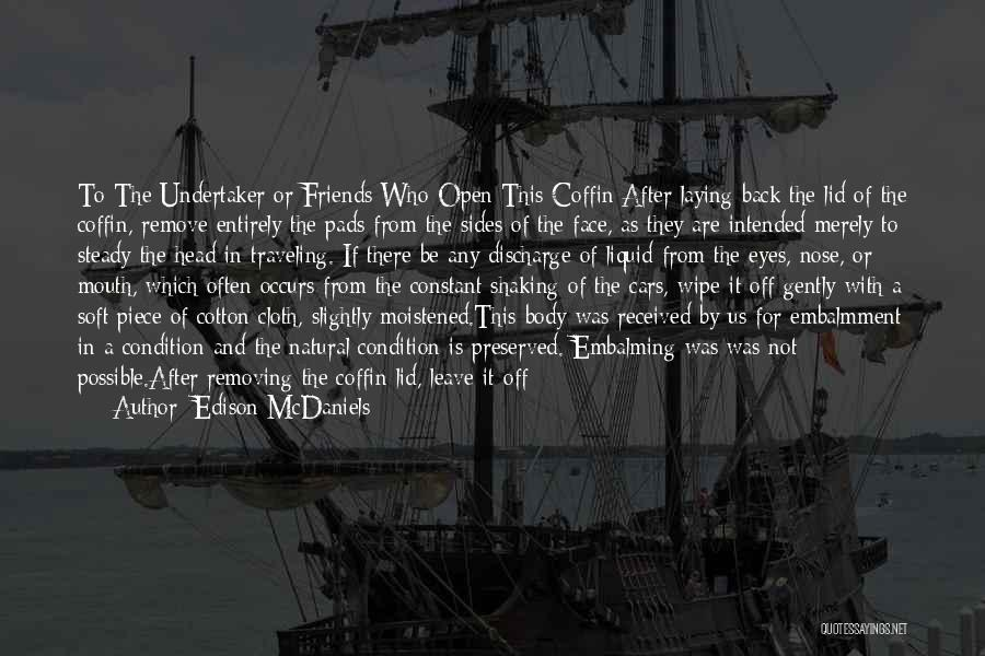 A Civil War Quotes By Edison McDaniels