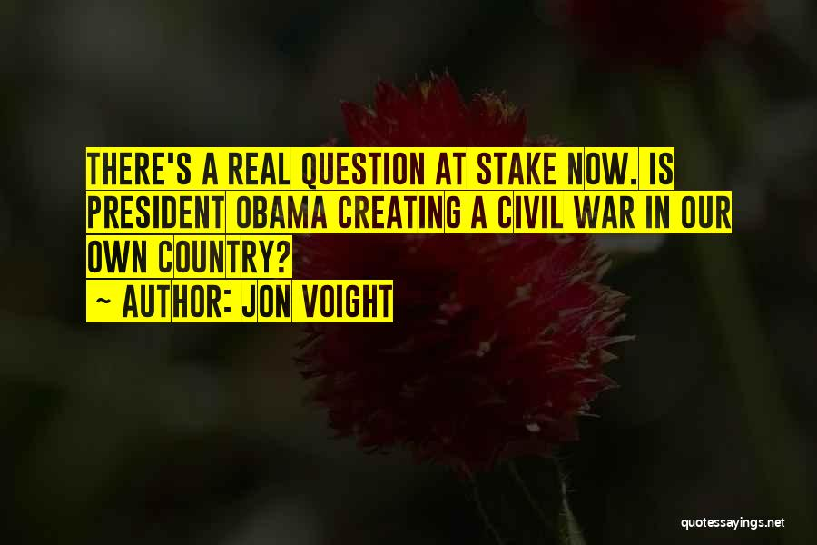A Civil War Quotes By Jon Voight