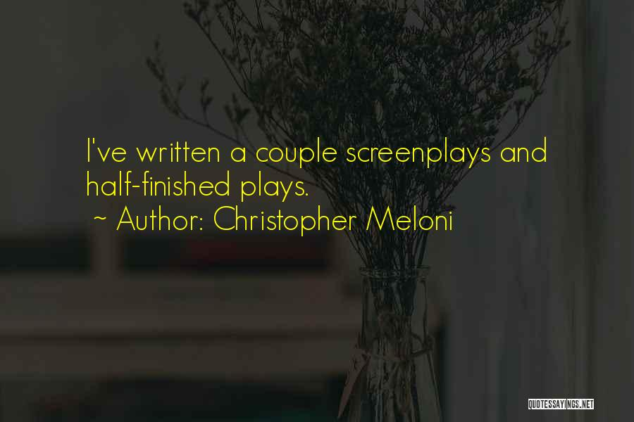 A Couple Quotes By Christopher Meloni
