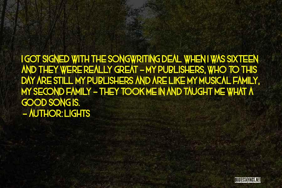 A Day With My Family Quotes By Lights