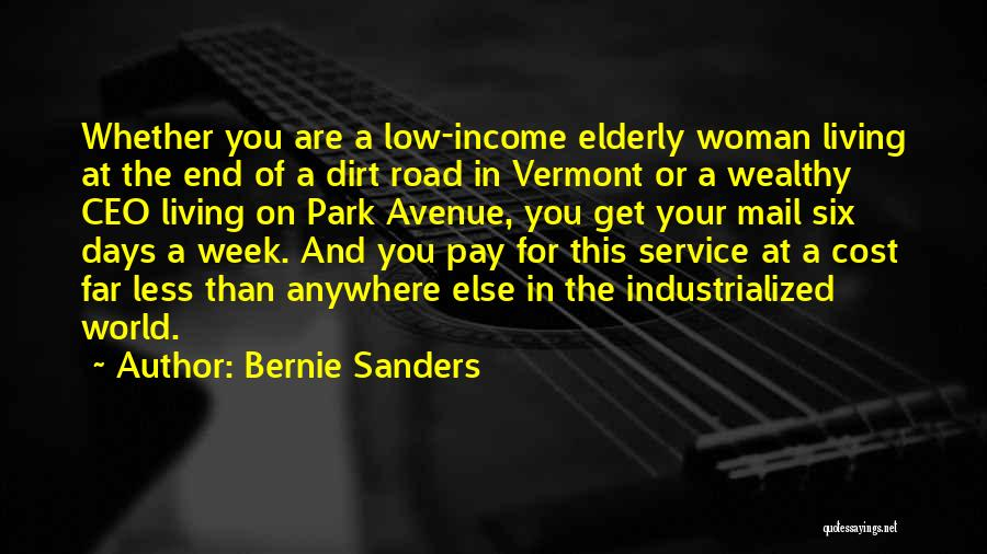 A Dirt Road Quotes By Bernie Sanders