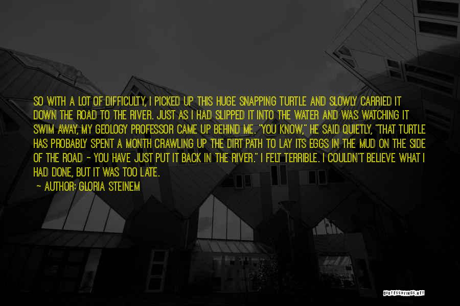A Dirt Road Quotes By Gloria Steinem