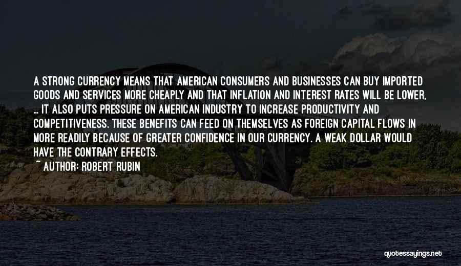 A Dollar Quotes By Robert Rubin