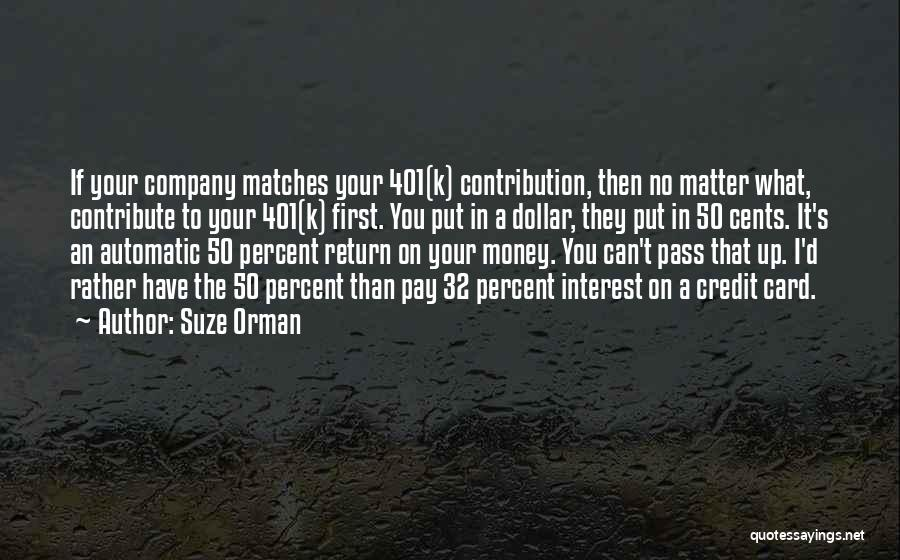 A Dollar Quotes By Suze Orman