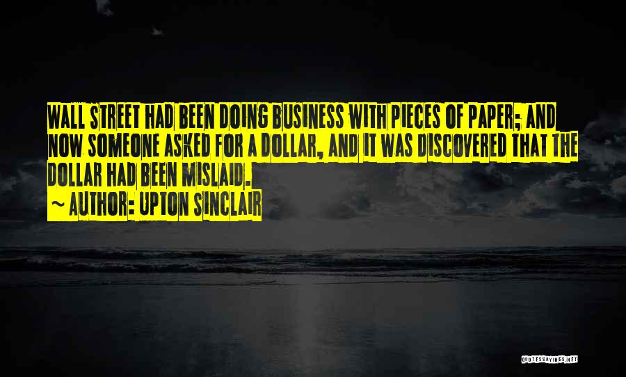 A Dollar Quotes By Upton Sinclair