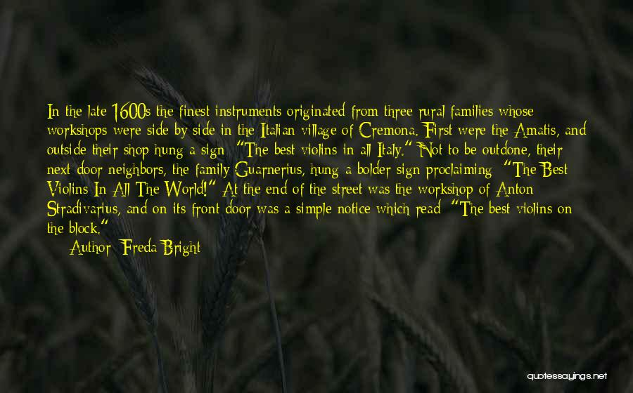 A Family Of Three Quotes By Freda Bright