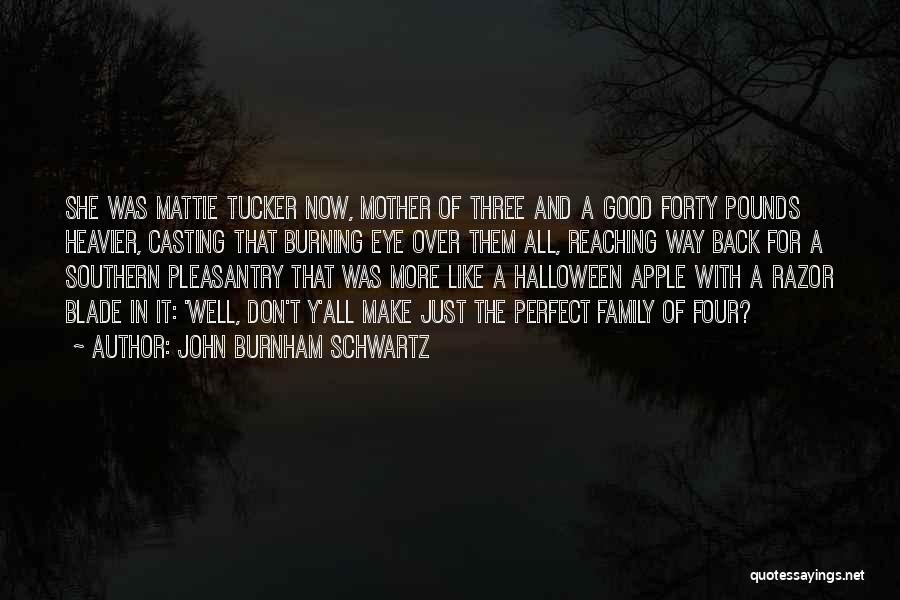 A Family Of Three Quotes By John Burnham Schwartz