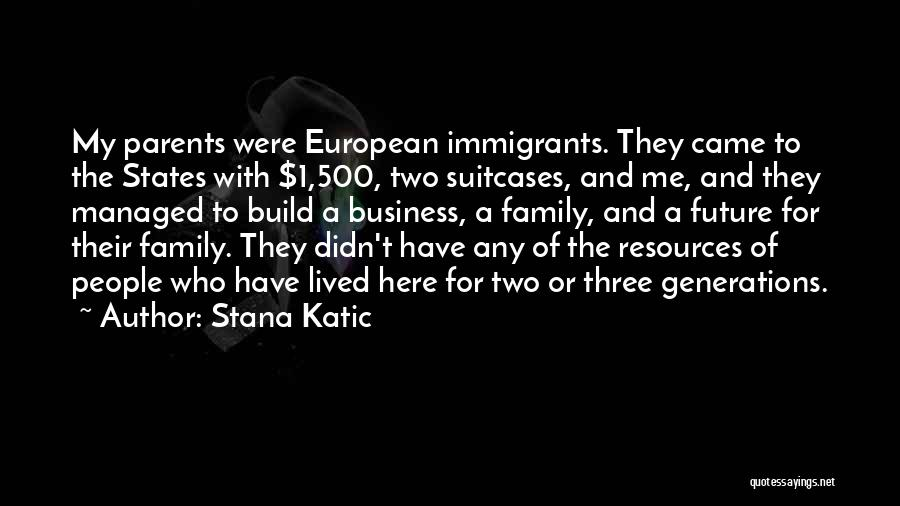 A Family Of Three Quotes By Stana Katic
