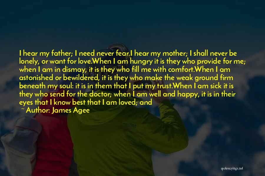 A Father Who Is Sick Quotes By James Agee