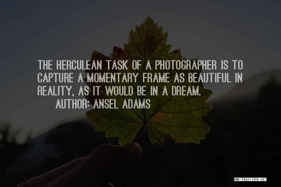 A Frame Quotes By Ansel Adams
