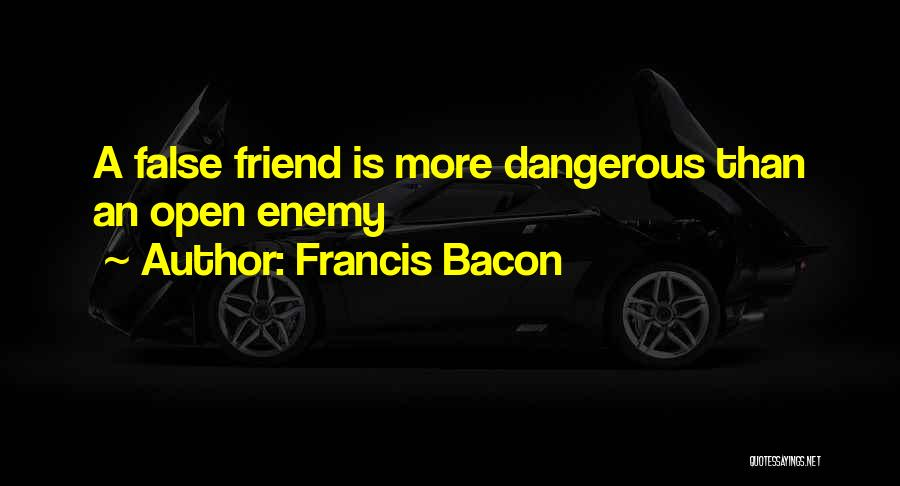 A Friend Is An Enemy Quotes By Francis Bacon