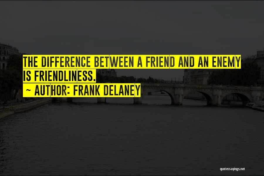 A Friend Is An Enemy Quotes By Frank Delaney