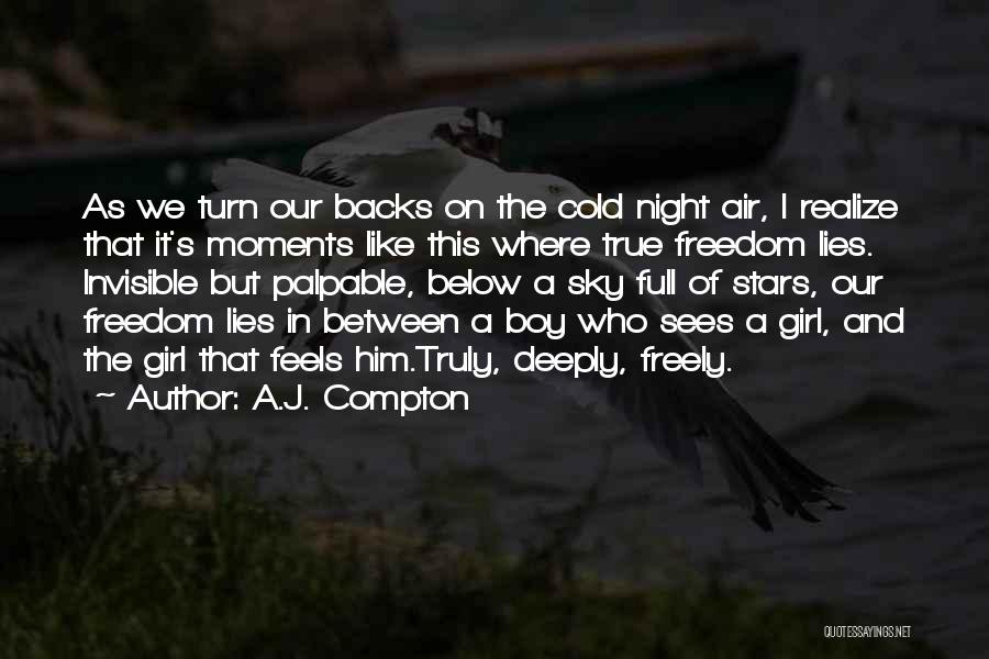 A Girl And A Boy In Love Quotes By A.J. Compton