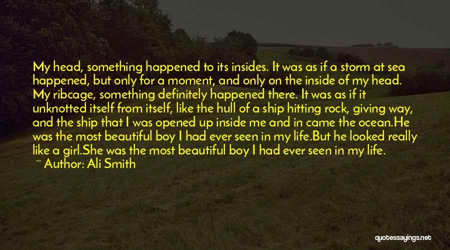 A Girl And A Boy In Love Quotes By Ali Smith