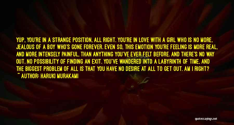 A Girl And A Boy In Love Quotes By Haruki Murakami