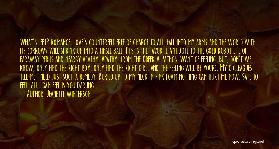 A Girl And A Boy In Love Quotes By Jeanette Winterson