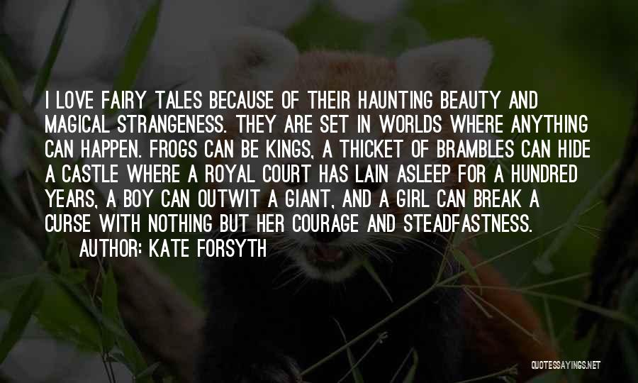 A Girl And A Boy In Love Quotes By Kate Forsyth