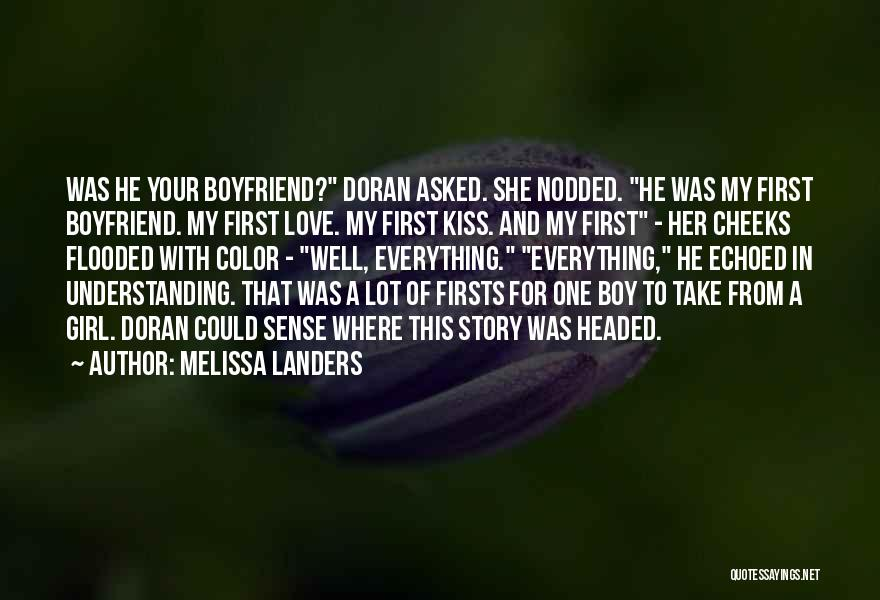 A Girl And A Boy In Love Quotes By Melissa Landers