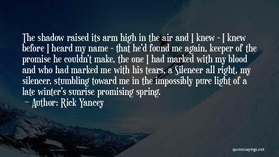 A Girl And A Boy In Love Quotes By Rick Yancey