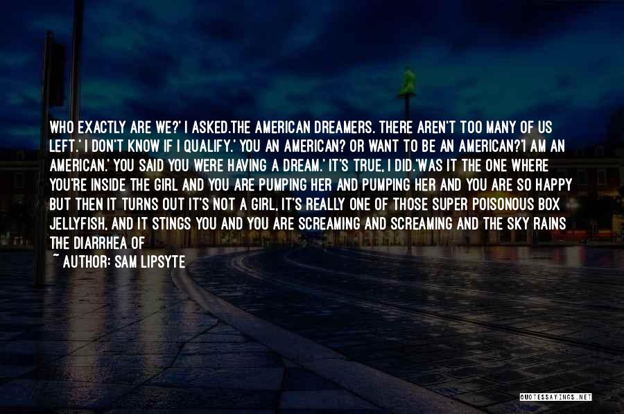 A Girl's Dream Quotes By Sam Lipsyte