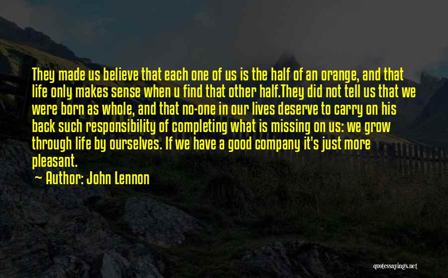 A Good Company Quotes By John Lennon