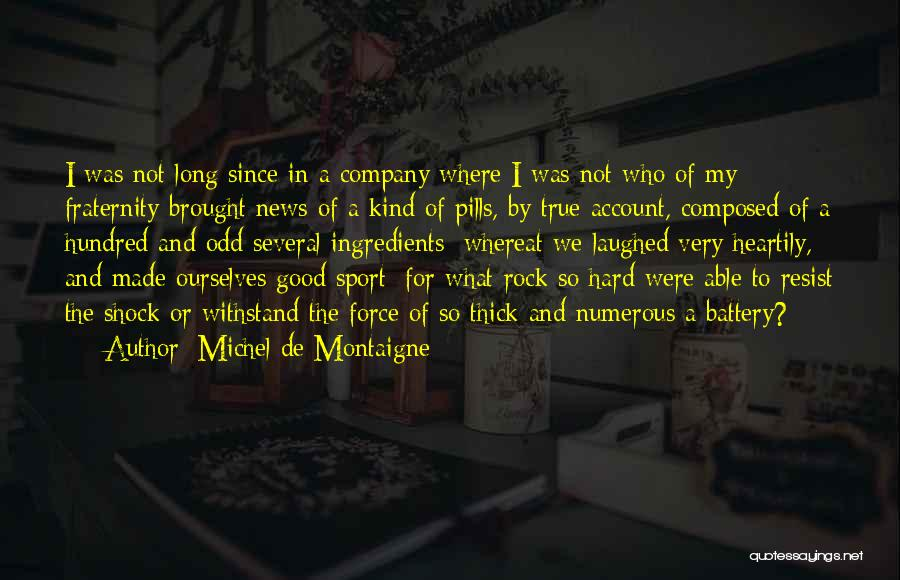 A Good Company Quotes By Michel De Montaigne