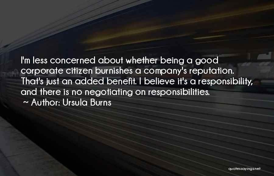 A Good Company Quotes By Ursula Burns