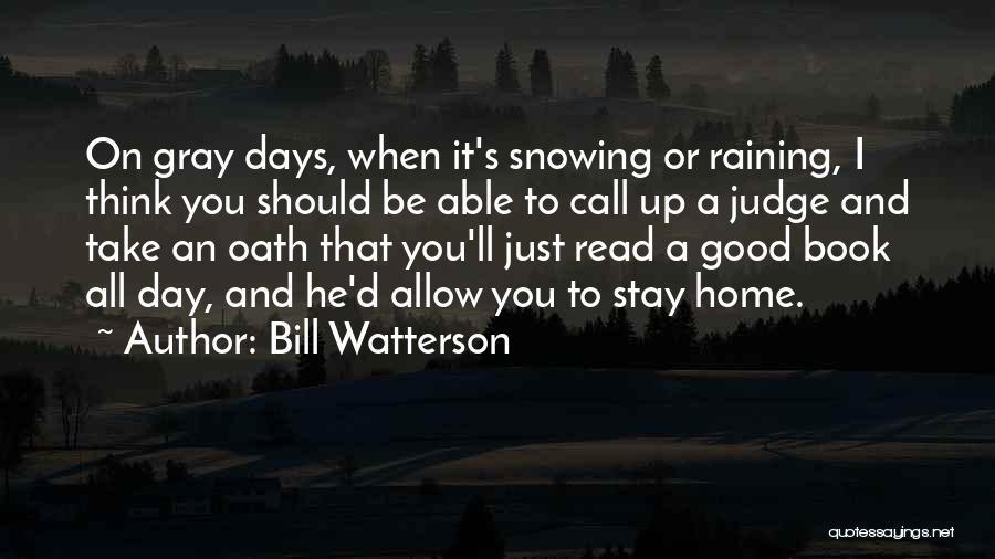 A Good Day Quotes By Bill Watterson