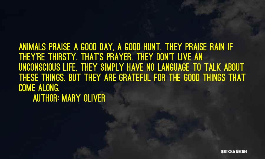 A Good Day Quotes By Mary Oliver