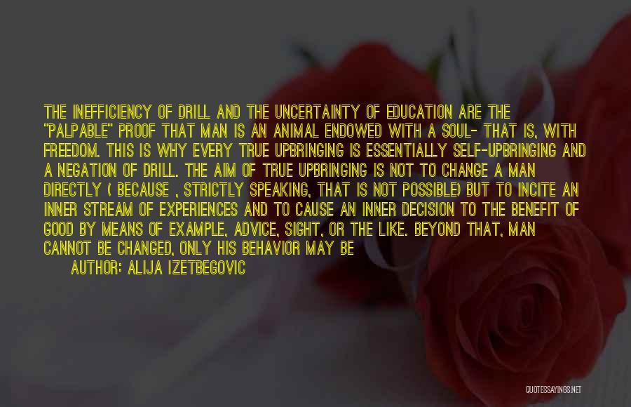 A Good Education Quotes By Alija Izetbegovic