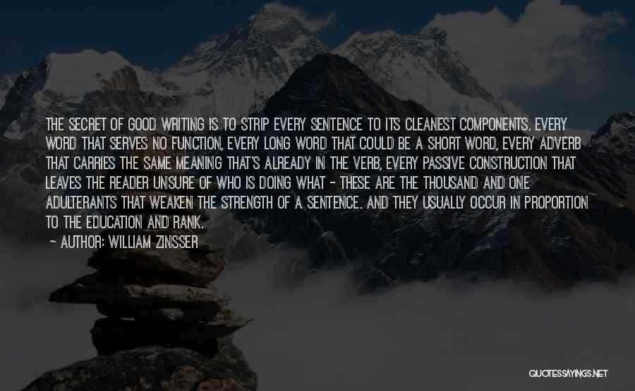 A Good Education Quotes By William Zinsser