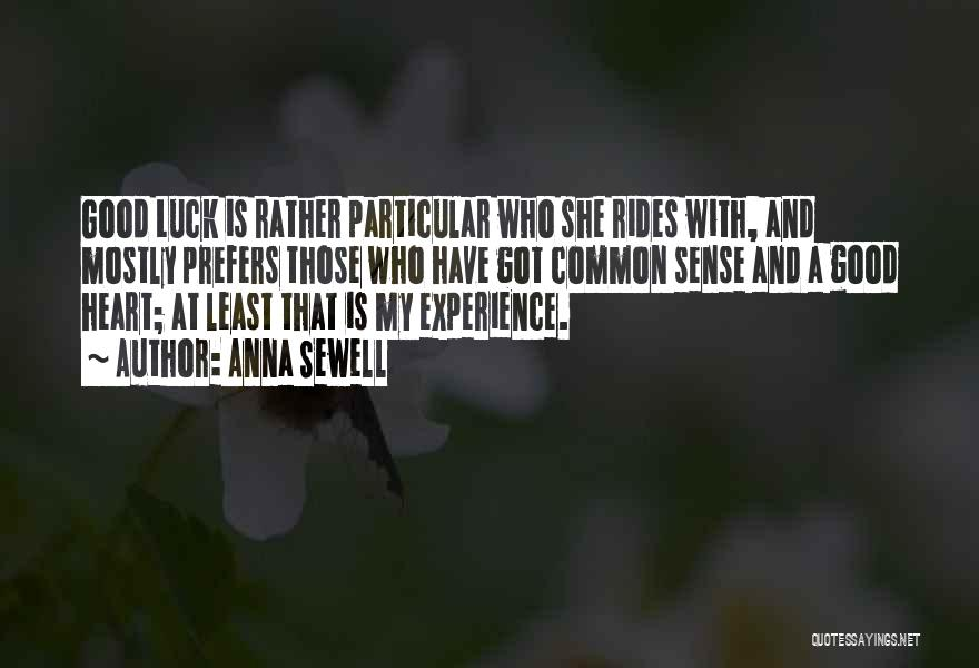 A Good Experience Quotes By Anna Sewell
