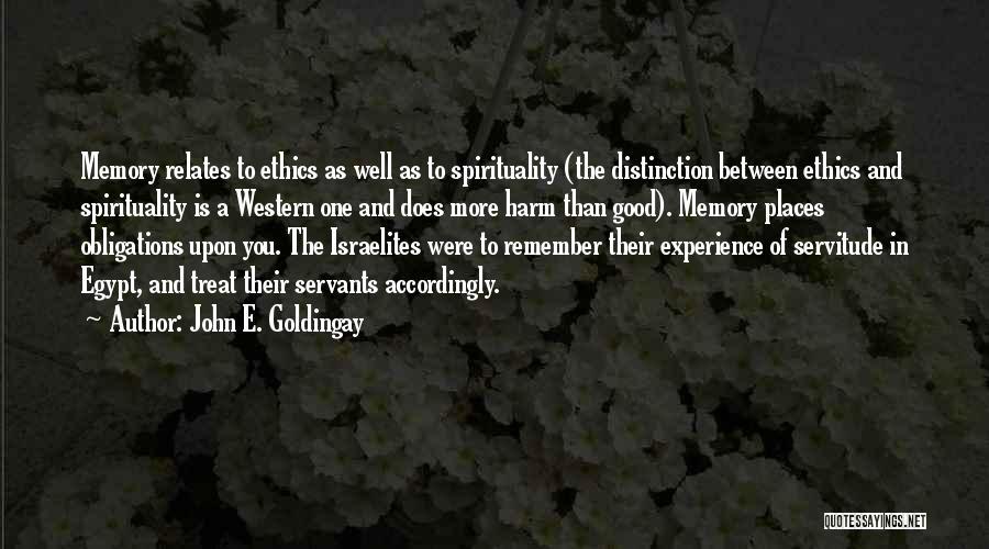 A Good Experience Quotes By John E. Goldingay