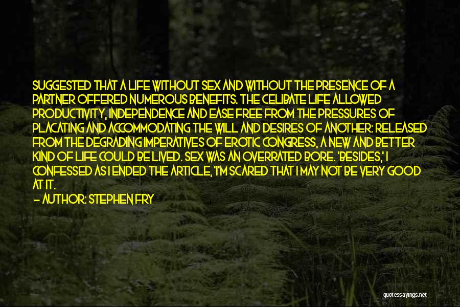 A Good Life Partner Quotes By Stephen Fry
