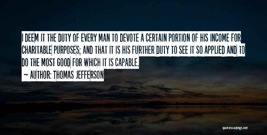 A Good Man Is Quotes By Thomas Jefferson