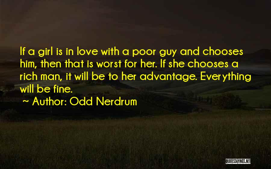 A Guy And A Girl Quotes By Odd Nerdrum