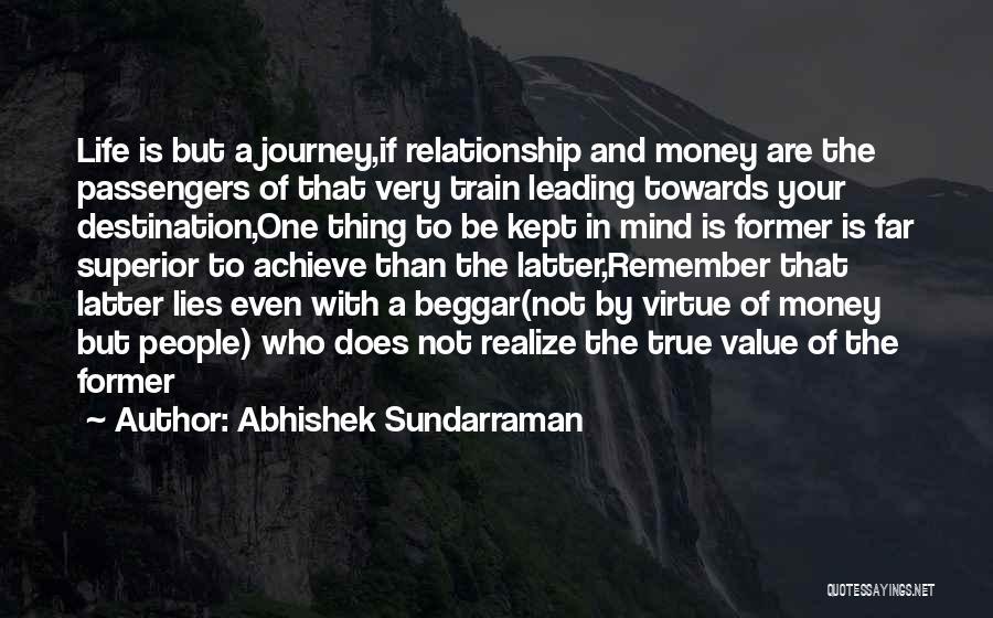 A Journey By Train Quotes By Abhishek Sundarraman