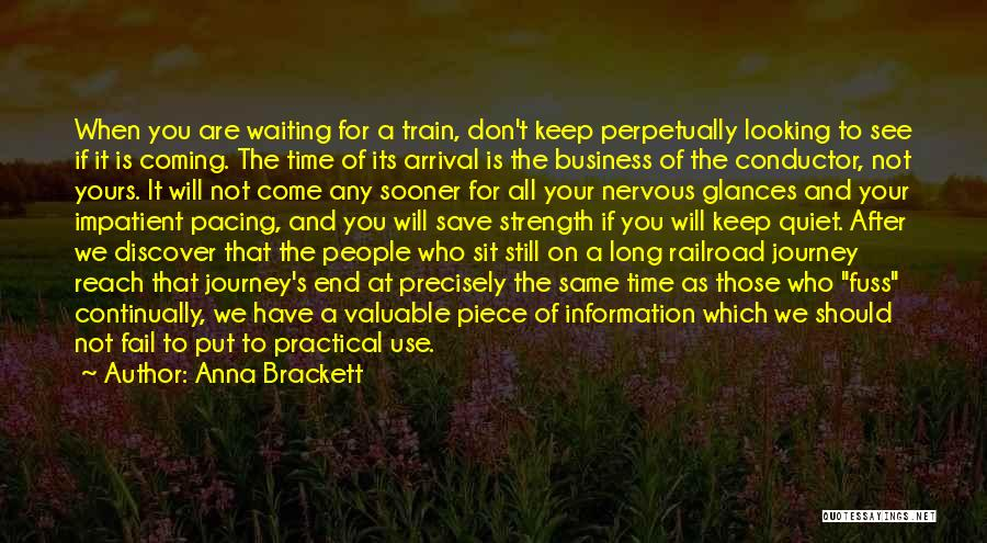 A Journey By Train Quotes By Anna Brackett