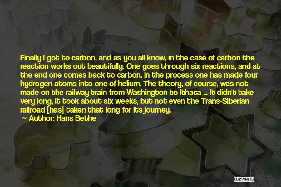 A Journey By Train Quotes By Hans Bethe