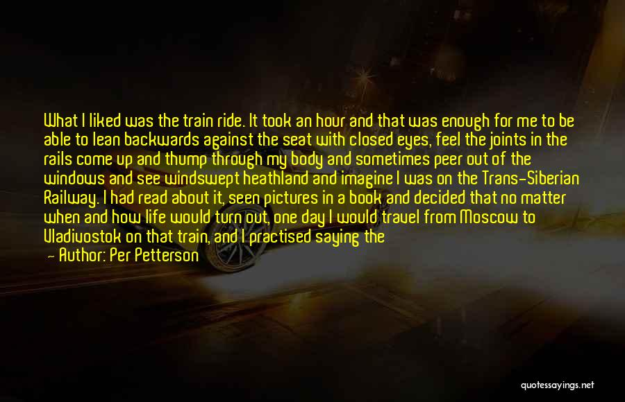 A Journey By Train Quotes By Per Petterson