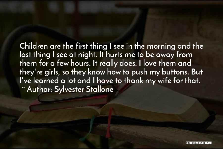 A Love That Hurts Quotes By Sylvester Stallone