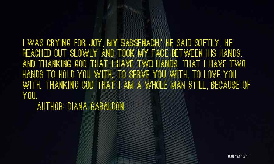 A Man Crying Quotes By Diana Gabaldon