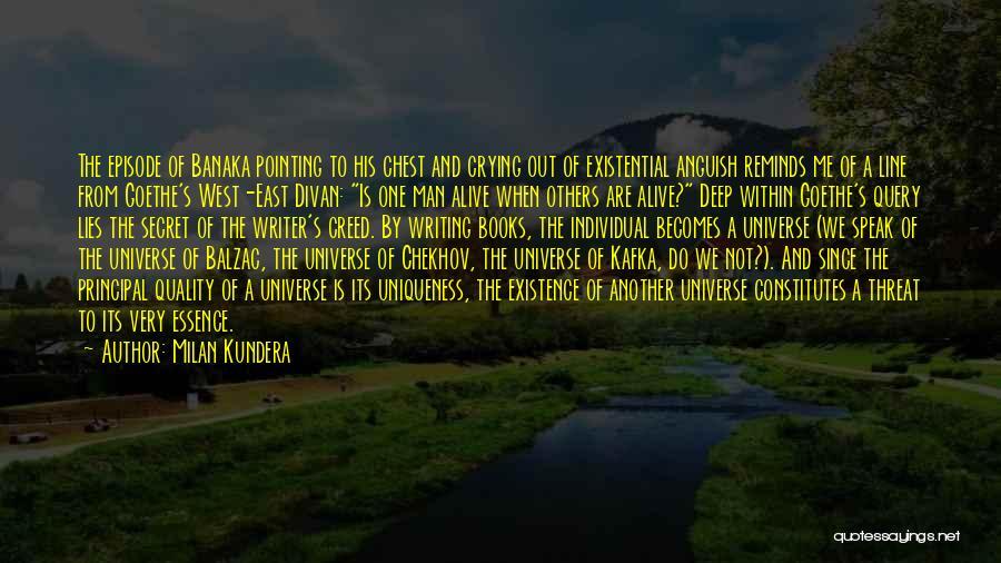 A Man Crying Quotes By Milan Kundera