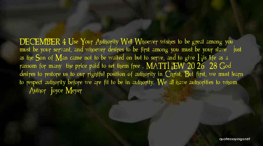 A Man In Your Life Quotes By Joyce Meyer
