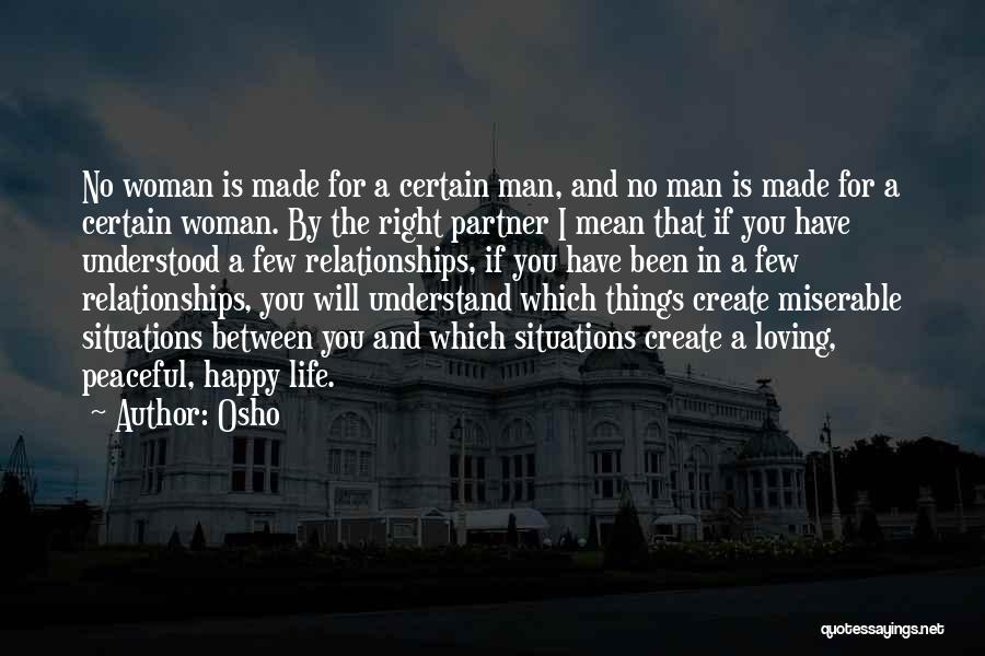 A Man Loving A Woman Quotes By Osho