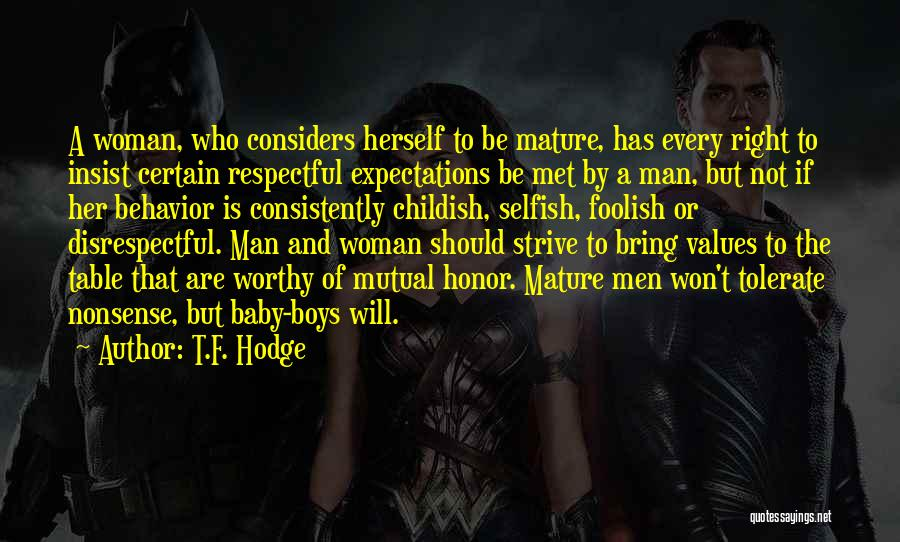A Man Loving A Woman Quotes By T.F. Hodge