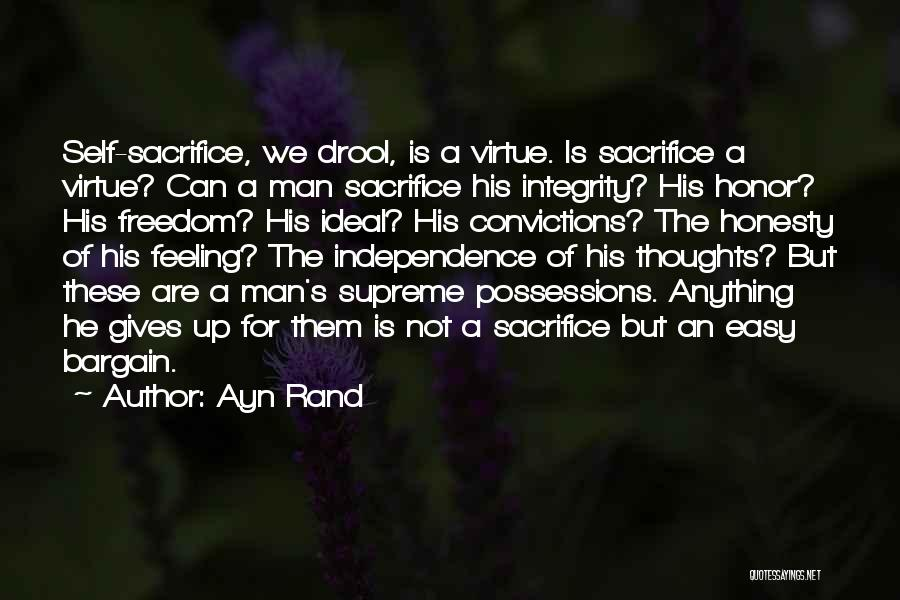 A Man Of Honor Quotes By Ayn Rand