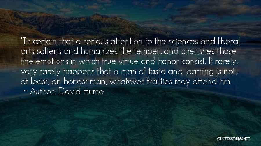A Man Of Honor Quotes By David Hume