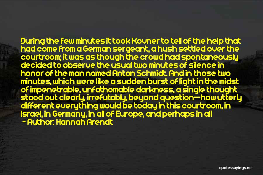 A Man Of Honor Quotes By Hannah Arendt