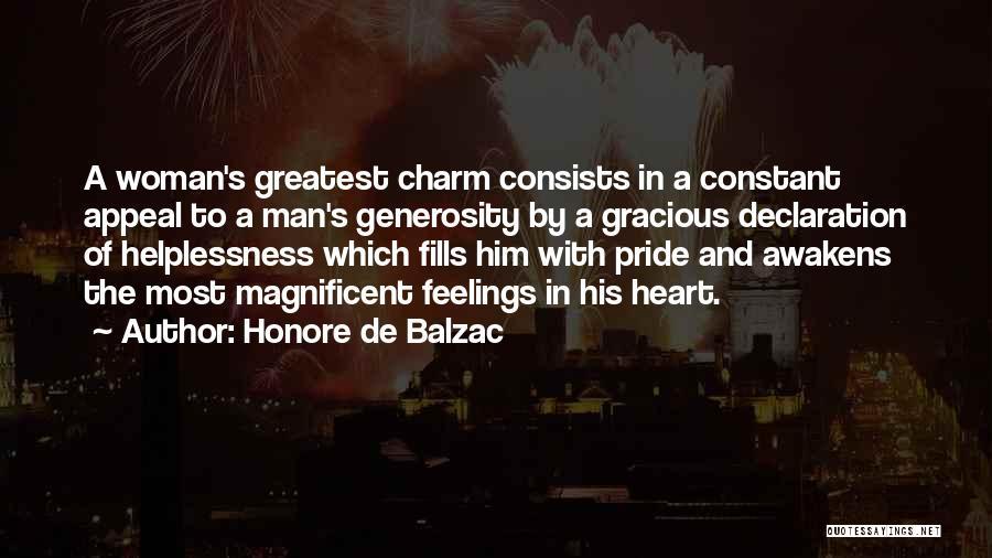 A Man's Pride Quotes By Honore De Balzac